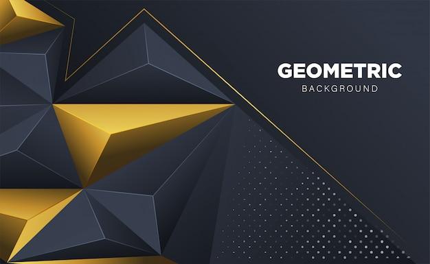 Абстрактный 3d многоугольник треугольник с темным