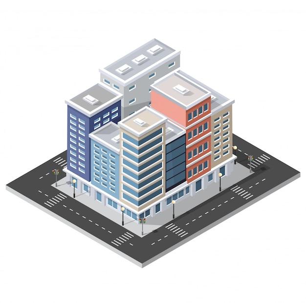 コンピュータインターネットアイコンアイソメ3d風景