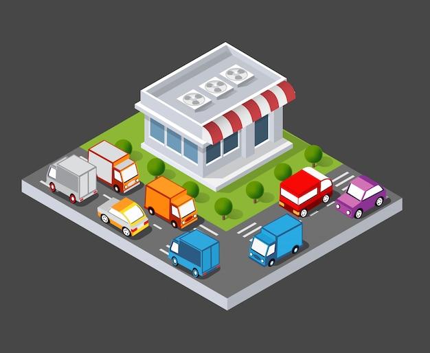Изометрическая 3d магазин