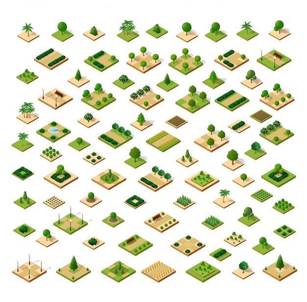 Изометрическая 3d набор парк