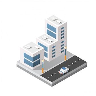 Изометрическая 3d модуль блока