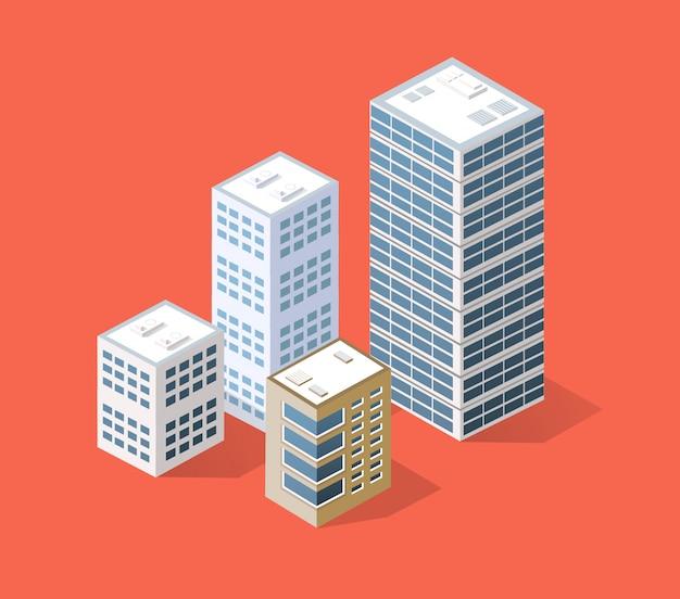 Изометрический 3d-город