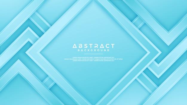 3dスタイルの幾何学的な青い背景。