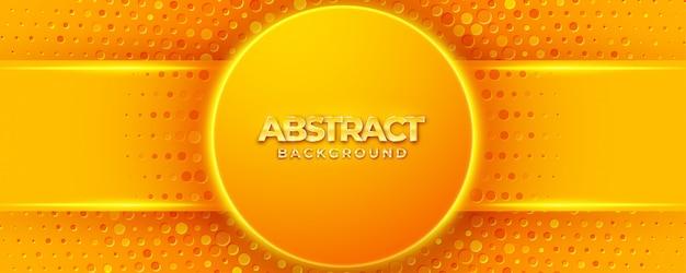 Современный текстурированный оранжевый дизайн фона в 3d стиле с формой круга.