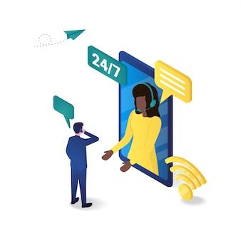 3d изометрические онлайн поддержки клиентов