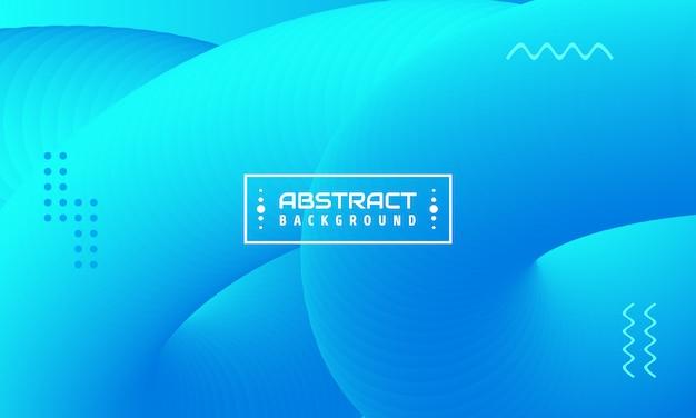 動的な流体形状の図。青い光の色の3dデザイン。