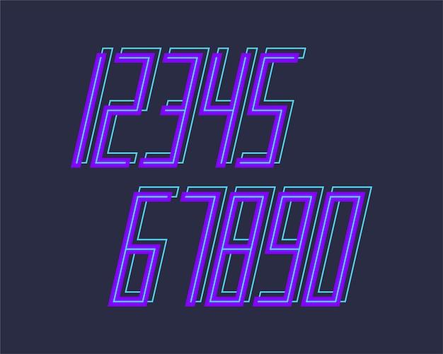 幾何学的なフォントの3d効果のデザイン番号