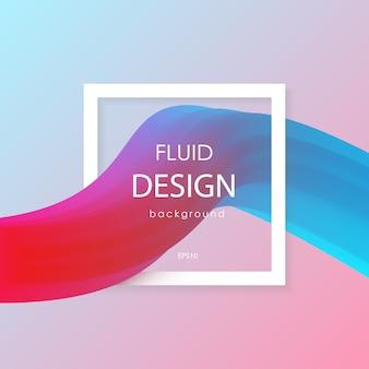 抽象的な3d液体カラフルな形。