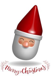 Санта-клаус 3d игрушка подарок персонажа декоративная иллюстрация