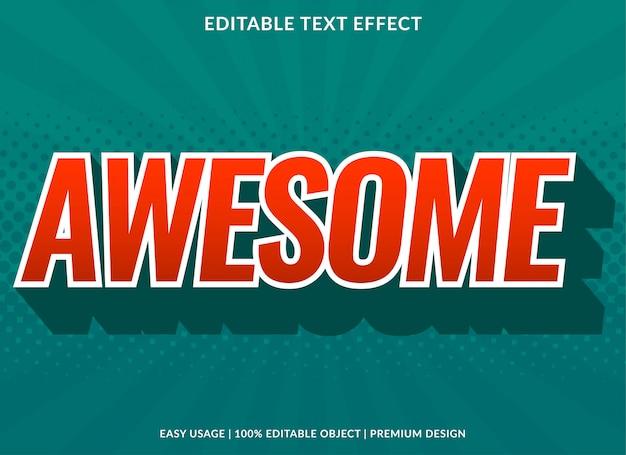 Потрясающий 3d текстовый шаблон эффекта