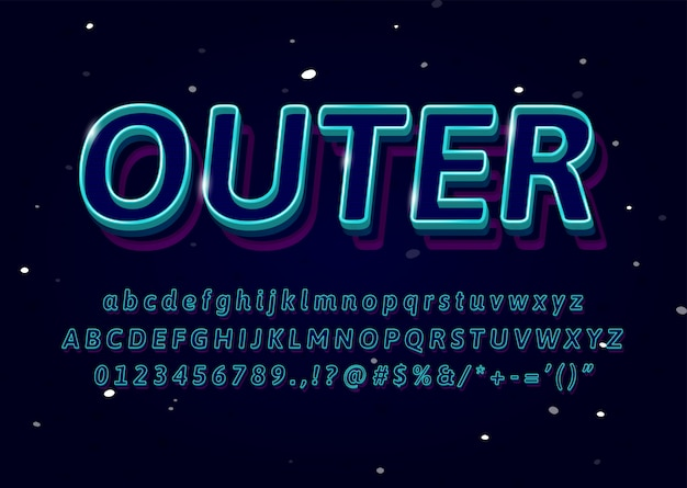 3d контурный шрифт текстовый эффект логотип спорт магазин заголовок