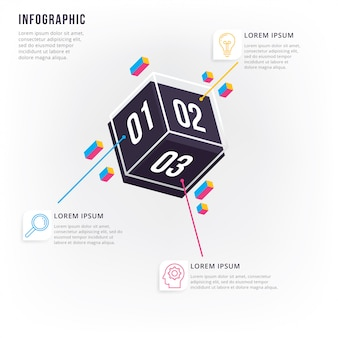 近代的かつ最小限の3dインフォグラフィック