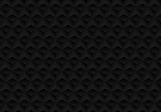 3d реалистичная геометрическая симметрия черный кубик фон