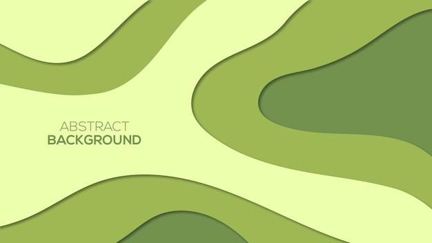 抽象的な紙カットの3d背景