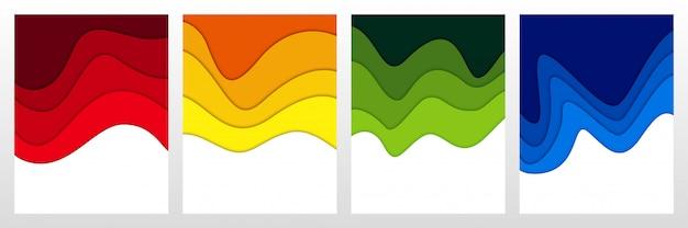 3dの抽象的な背景と紙のカット形状