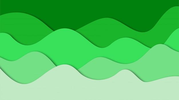 3d абстрактный фон и вырезанные из бумаги формы