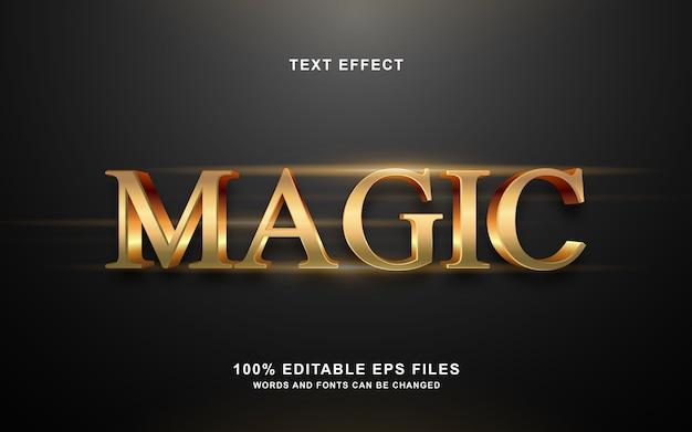 Волшебный золотой эффект стиля 3d текста