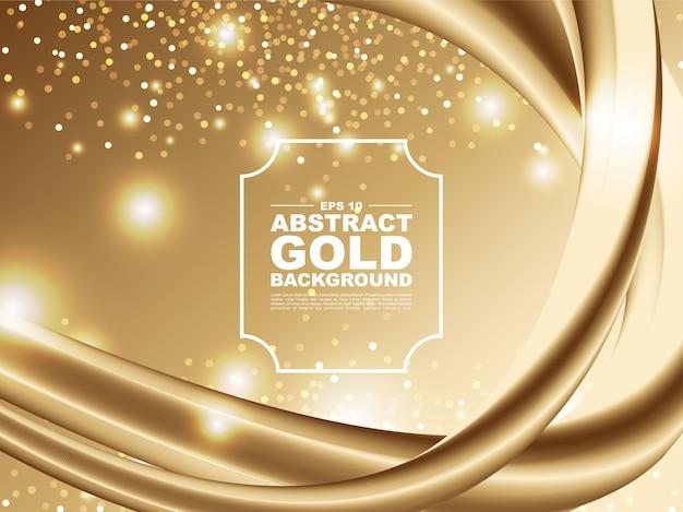 3dゴールド液体デザインイラストと抽象的な金の背景