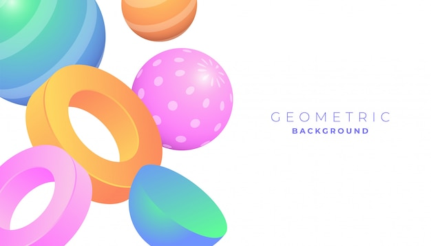 3d геометрические фигуры фон с пастельного цвета градиента