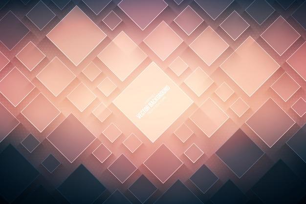 抽象的なベクトル技術の背景。技術的な3d幾何学的構造