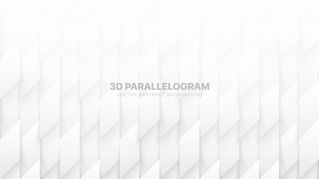 3d параллелограммы шаблон абстрактный белый фон