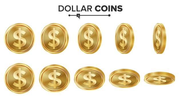 ドル3dゴールドコイン
