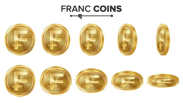 Франк 3d золотые монеты