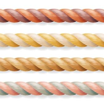 異なる色の厚さの3dロープラインセット