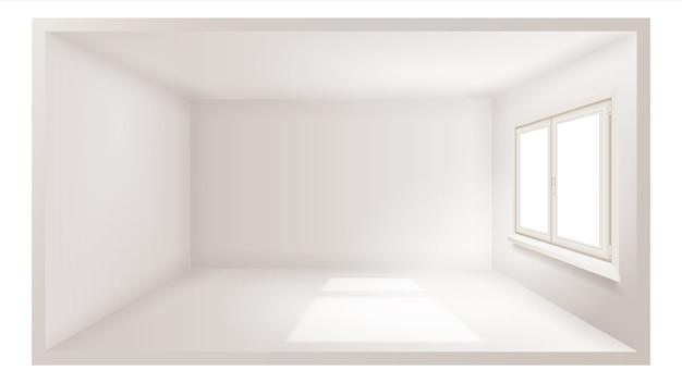 Пустая комната с окном 3d