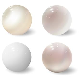 3d球。光沢のあるボール。プラスチック色の泡