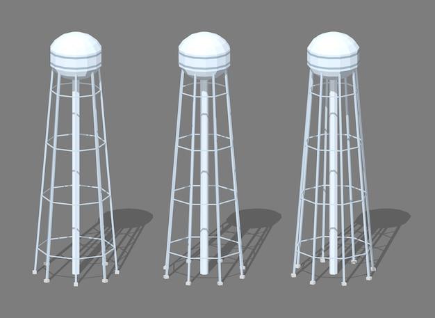 3d低ポリ等尺性給水塔