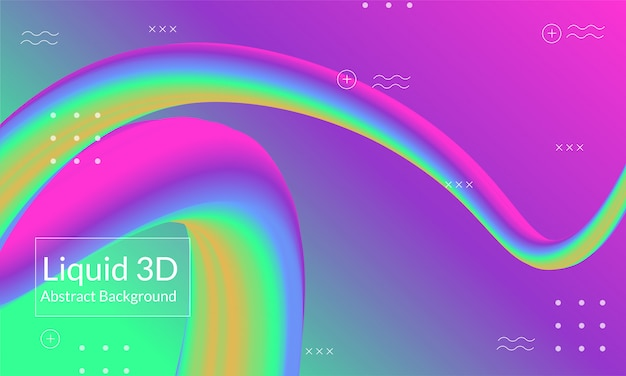 Современная 3d линия абстрактный фон