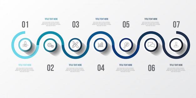 Синяя инфографика с 3d таблицей