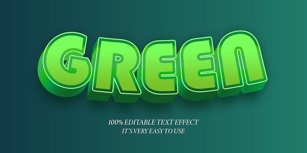 緑の湾曲した3dスタイルのテキスト効果