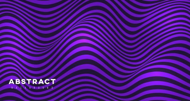 Абстрактный фиолетовый фон 3d волнистые линии