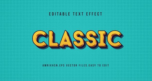 3d классический текстовый эффект, редактируемый текст