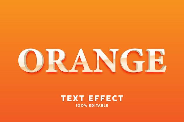 3dオレンジ色のシンプルなテキスト効果