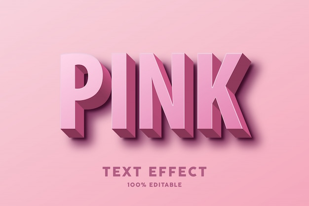 3dピンクのテキスト効果