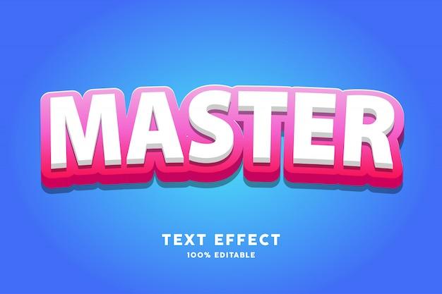 3d розовый красный на белом текстовый эффект