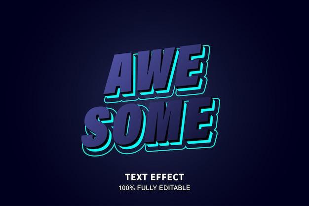 3d перспективный текстовый эффект, редактируемый текст