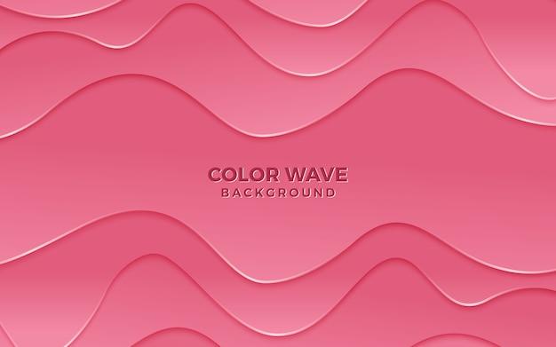 Современный текстурированный волнистый розовый фон дизайн 3d стиль.