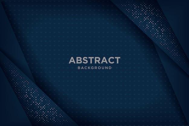 Абстрактные темно-синий 3d фоны с перекрывающимися слоями.