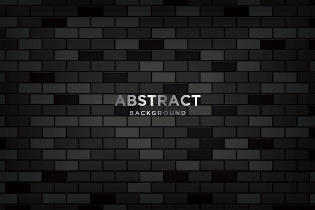 Абстрактный 3d фон с реалистичными темными кирпичными стенами
