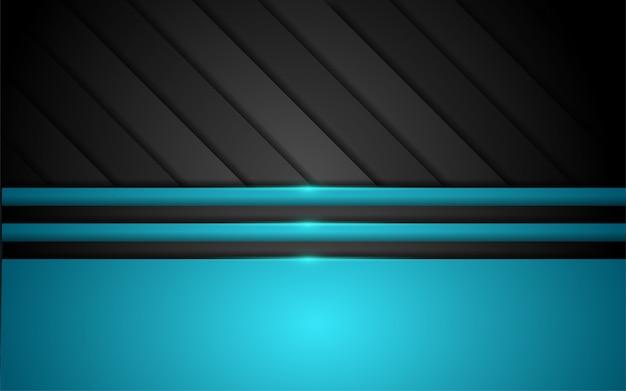 青い線の形をした抽象的な3dオーバーラップレイヤーの背景