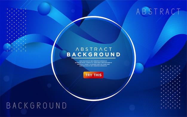 Динамичный синий 3d текстурированный стиль фона
