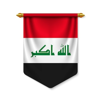3d реалистичный вымпел с флагом