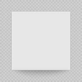 Вид сверху коробки с тенью. макет модели 3d. реалистичный белый бланк