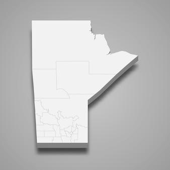 3d карта провинции канады