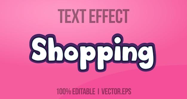 Шоппинг повседневный 3d жирный игровой текстовый эффект графический стиль слой стиль стилей