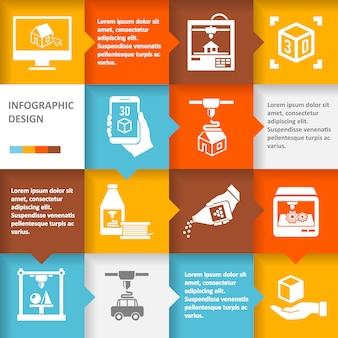 Принтер 3d инфографики